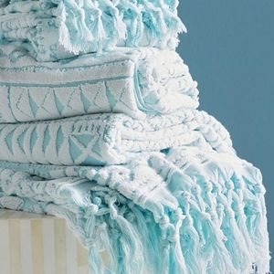 Set of two Anthropologie Bath Towels